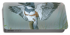 Male Belted Kingfisher Portable Battery Charger