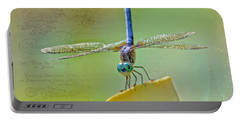 Male Blue Dasher Dragonfly Portable Battery Charger