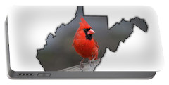 Male Cardinal One Of The Most Recognizable Birds Portable Battery Charger