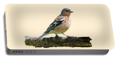 Male Chaffinch, Transparent Background Portable Battery Charger