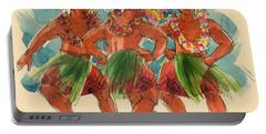 Male Dancers Of Lifuka, Tonga Portable Battery Charger