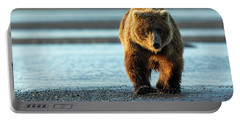 Male Grizzly At Low Tide Portable Battery Charger