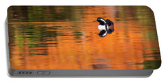 Male Hooded Merganser In Autumn Portable Battery Charger
