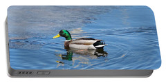 Portable Battery Charger featuring the photograph Male Mallard Duck by Michael Peychich