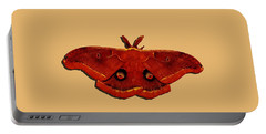 Portable Battery Charger featuring the photograph Male Moth Red .png by Al Powell Photography USA