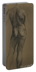 Male Nude Study Portable Battery Charger