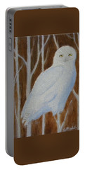 Male Snowy Owl Portrait Portable Battery Charger