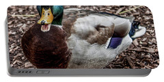 Portable Battery Charger featuring the photograph Mallard Duck by Joann Copeland-Paul