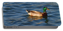 Mallard Drake Duck Swimming Portable Battery Charger