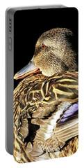 Mallard Duck Portrait Portable Battery Charger