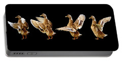 Mallard Duck Stretching Her Wings Portable Battery Charger