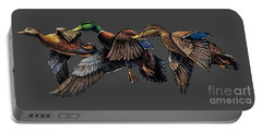 Mallard Ducks In Flight Portable Battery Charger