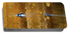 Mallard Ducks On Magnolia Pond - Painted Portable Battery Charger