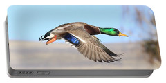 Mallard Flying Over Portable Battery Charger