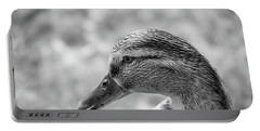 Mallard In Monochrome Portable Battery Charger