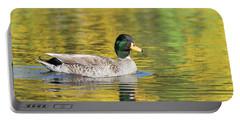 Mallard In Yellow Portable Battery Charger