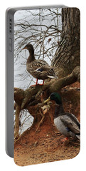 Portable Battery Charger featuring the photograph Mallard by Kim Henderson