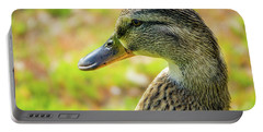 Mallard Portrait - Female Portable Battery Charger