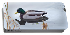 Mallard Reflected Portable Battery Charger by Margaret Brooks