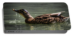 Portable Battery Charger featuring the photograph Mallard Sipping Water by Ray Congrove
