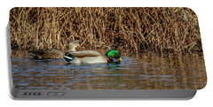Mallards At The Marsh Portable Battery Charger by Ray Congrove