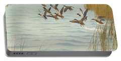 Mallards In Autumn Portable Battery Charger