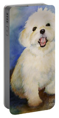 Maltese Named Ben Portable Battery Charger by Marilyn Jacobson