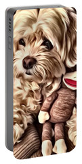 Maltipoo Love Portable Battery Charger