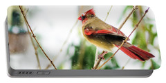 Mama Cardinal Portable Battery Charger