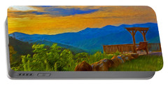 Blue Ridge Sunset From Mama Gertie's Hideaway Portable Battery Charger