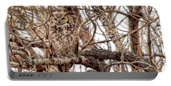 Mama Owl In Camo Portable Battery Charger
