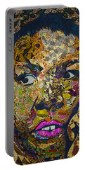 Portable Battery Charger featuring the tapestry - textile Mama's Watching by Apanaki Temitayo M