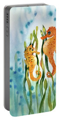 Mamma And Baby Seahorses Portable Battery Charger