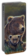 Portable Battery Charger featuring the painting Mammas Warmth by Leslie Allen