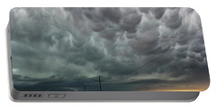 Portable Battery Charger featuring the photograph Mammatus Over Montata by Ryan Crouse