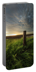 Portable Battery Charger featuring the photograph Mammatus Sunset by Aaron J Groen