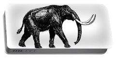 Mammoth Tee Portable Battery Charger by Edward Fielding