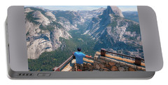 Portable Battery Charger featuring the photograph Man In Awe- by JD Mims