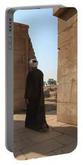 Portable Battery Charger featuring the photograph Man In The Temple by Silvia Bruno