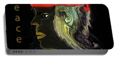 Portable Battery Charger featuring the digital art Man Of Peace by Sherri Of Palm Springs