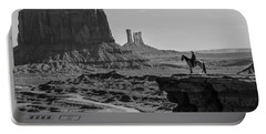 Man On Horse Monument Valley Portable Battery Charger