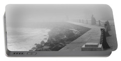 Man Waiting In Fog Portable Battery Charger