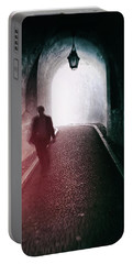 Man Walking Through A Tunnel Portable Battery Charger