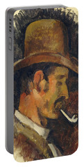 Man With Pipe Portable Battery Charger