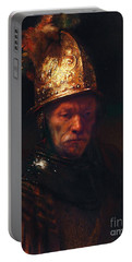 Man With The Golden Helmet Portable Battery Charger by Pg Reproductions
