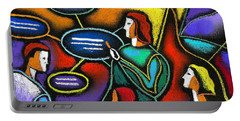 Portable Battery Charger featuring the painting Manager  by Leon Zernitsky