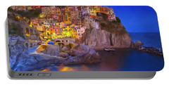 Manarola By Moonlight Portable Battery Charger by Dominic Piperata