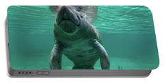 Manatee Breathing Portable Battery Charger by Tim Fitzharris