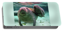 Manatee Mom And Calf Portable Battery Charger