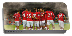 Manchester United  In Action  Portable Battery Charger by Don Kuing